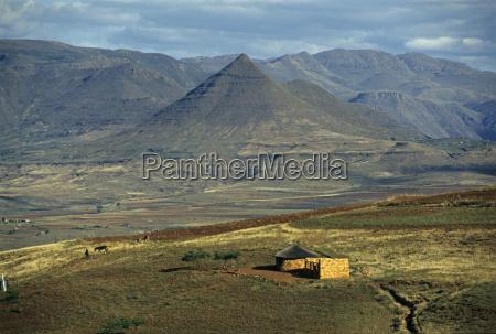 maluti berge in lesotho afrika