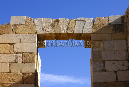 fenster ruinen der romische stadt