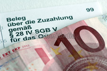 symbolfoto zuzahlungsbeleg 10 euro