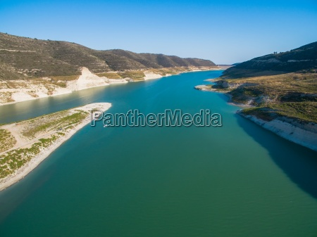 aerial kouris dam limassol cyprus