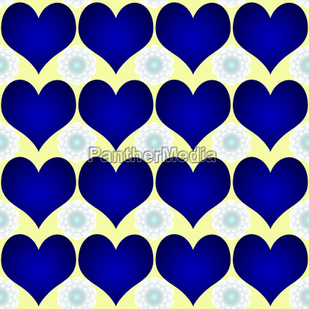 blaue herzen weisse blumen