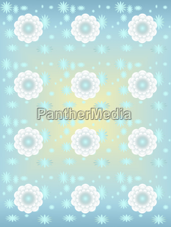 white flowers background blue