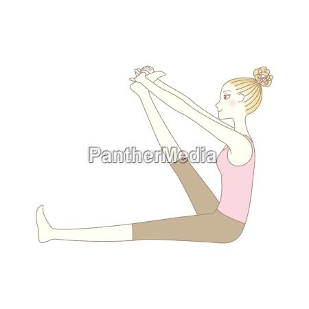 yoga UEbung yoga pose frau in