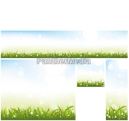 spring website banner collection