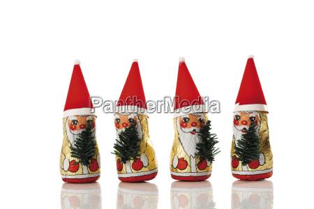 weihnachtsmanner aus schokolade