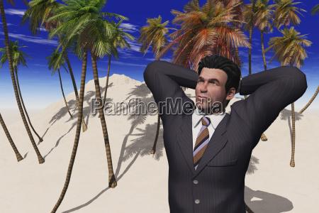 computer generiertes abbild eines businessmans auf