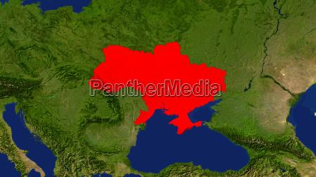 ukraine rot hervorgehoben europa