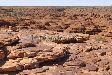 view over the sandstone cliffs sandstone