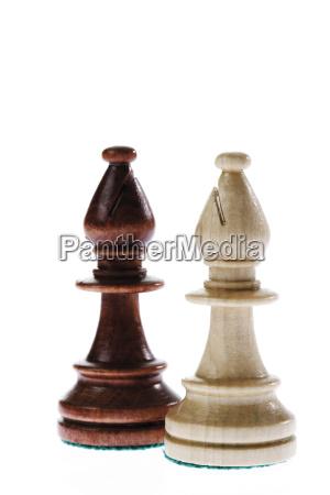 schachfiguren zwei laufer symbol