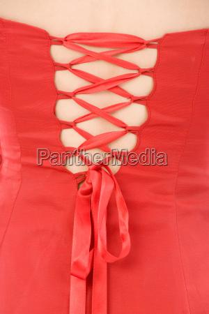 rotes abendkleid zum binden
