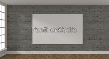 big mock up poster in a