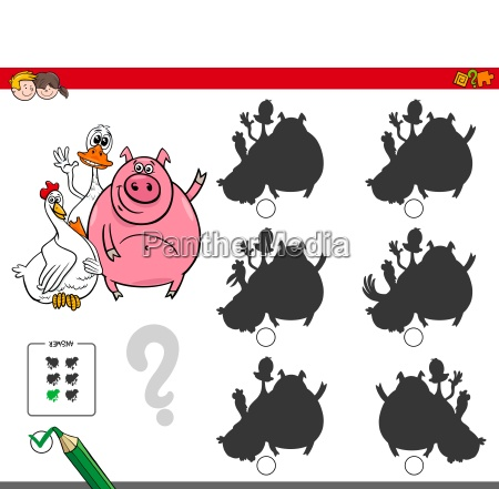 shadows activity game with cute farm