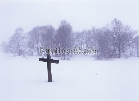 kreuz winter hohes venn