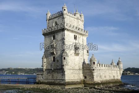 torre de belem verteidigungsanlage aus