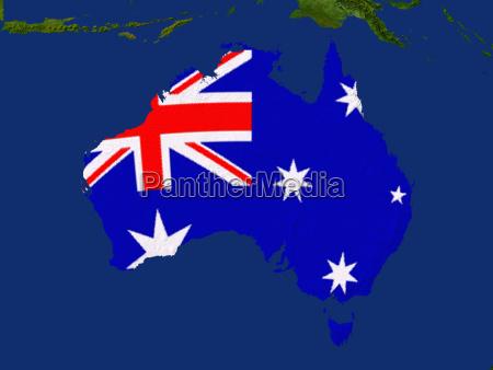 satellitenaufnahme von australien wird von der