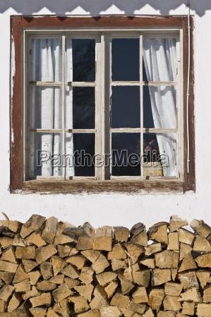window with holzstoss achenkirch tyrol austria