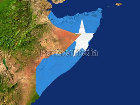 satellitenaufnahme von somalia wird von der