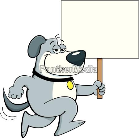 cartoon illustration of a dog running