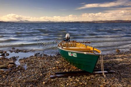 fishing boat on the island reichenau