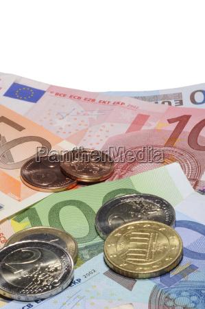 banknoten und munzgeld euro