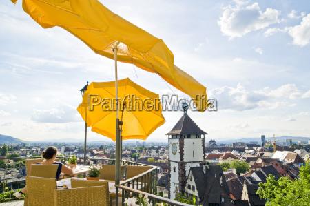panorama von freiburg im breisgau im