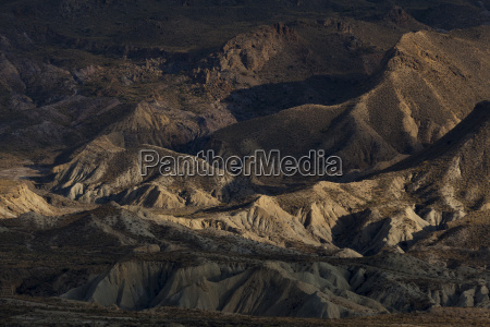 badlands in the desert of tabernas