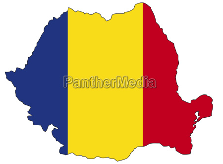 rumanien flagge umriss