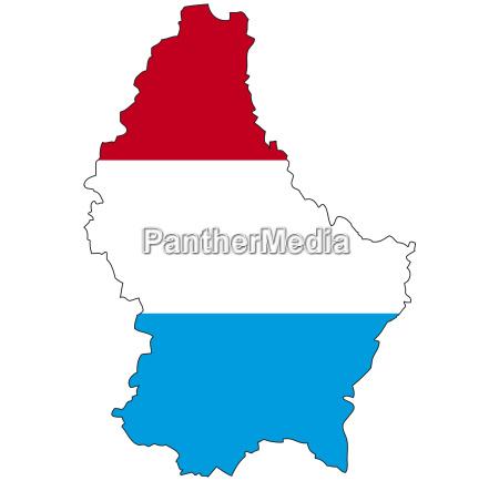 luxemburg flagge umriss