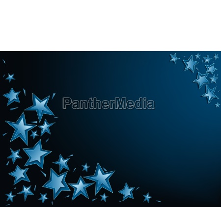 blue christmas stars background