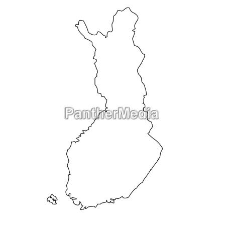 umriss karte von finnland