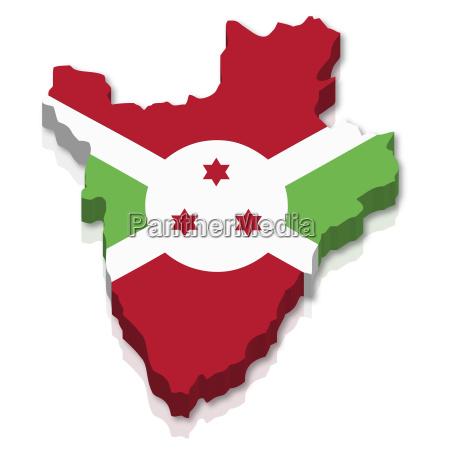 umriss und flagge von burundi