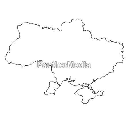 umriss karte der ukraine
