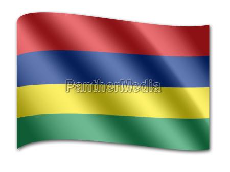 flagge von mauritius