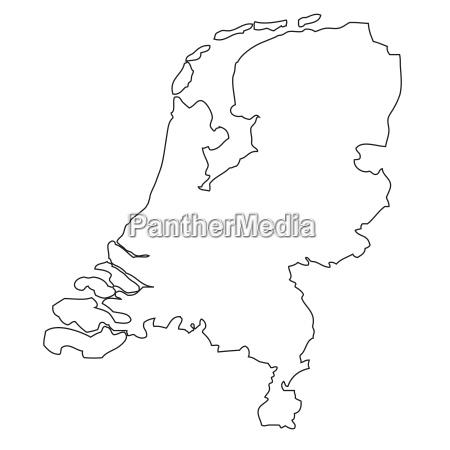 umriss karte der niederlande