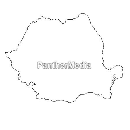 umriss karte von rumanien