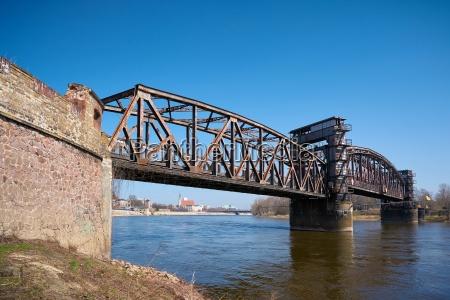 historic lift bridge over the river
