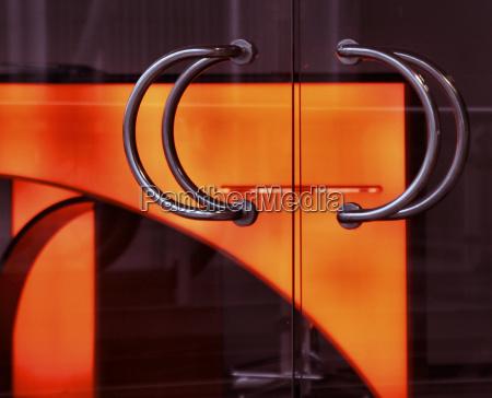 glass chalice tumbler cup orange detail