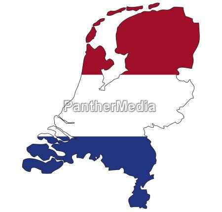 niederlande flagge umriss