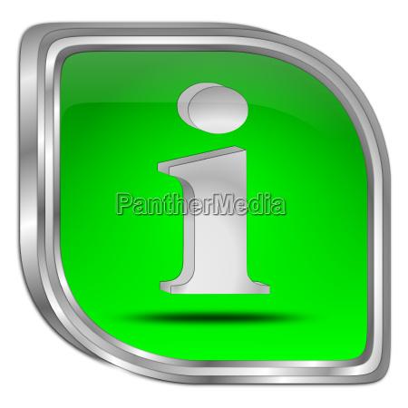gruene informationstaste 3d darstellung