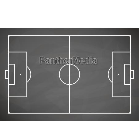 gray black board soccer field