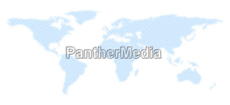 stylized world map made of light