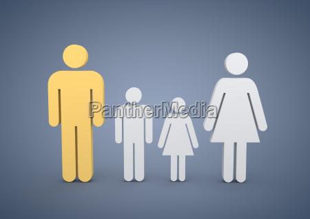 familie mit zwei kindern symbolbild
