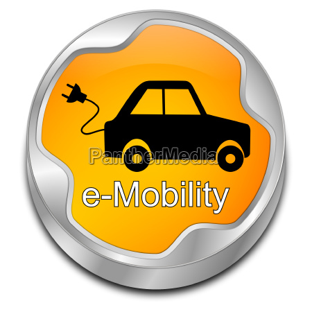 orange e mobilitaets knopf illustration
