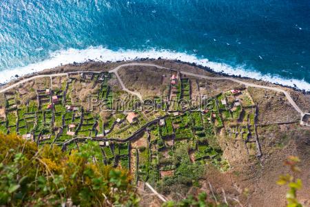 terraces on the cliffs of santa