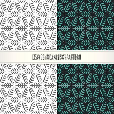 vector leaves seamless pattern modern design