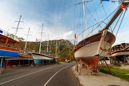 industrie holz tourismus segeln abend weinlese