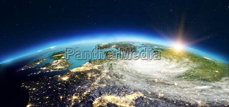 europa aus dem weltraum 3d rendering