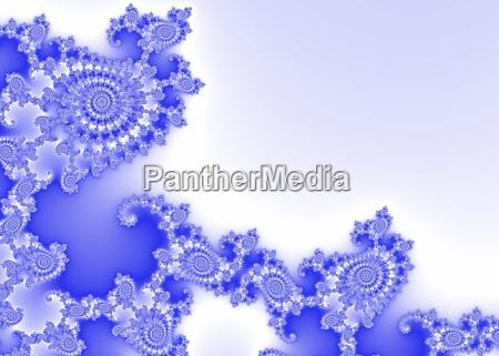 blue decorative fractal background