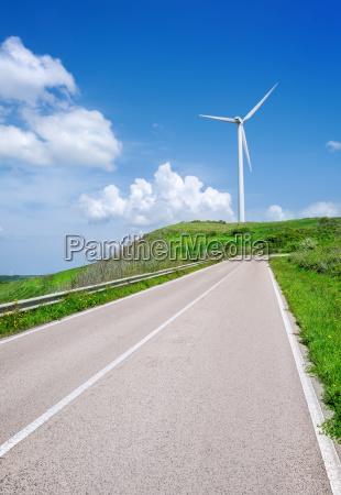 wind turbine on a meadow