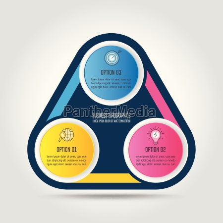 infographik design business konzept mit 3